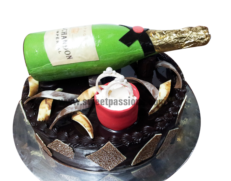 Champagne Bottle Ring Box