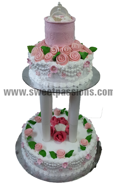 2 Tier Tall Stands Ring Box