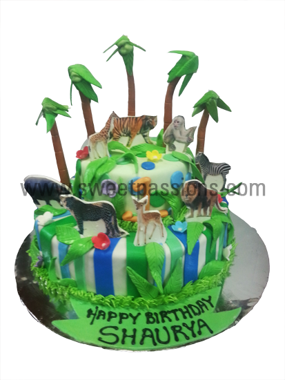2 Tier Jungle Animals Cut-outs