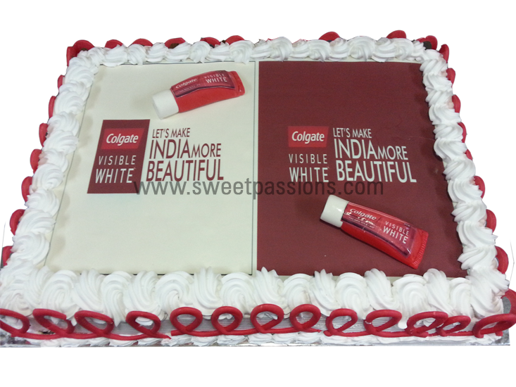Photo Cake For Colgate Ad