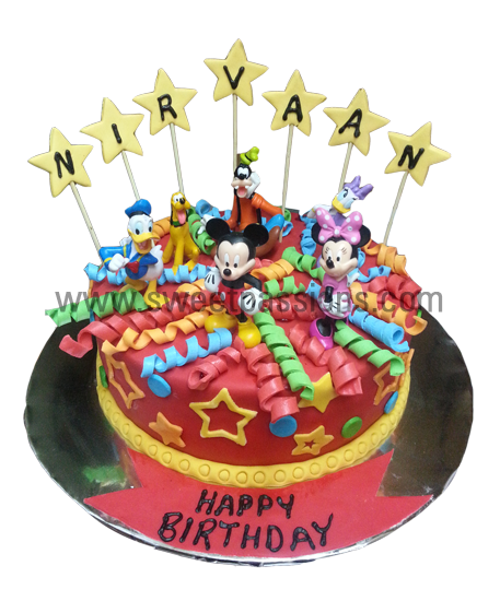 Mickey Toys Cake Single Layer