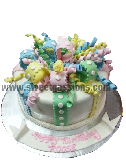 Multi Twirls Cake