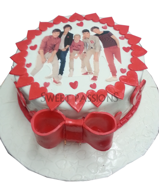 1d Sugarpaste Photo Hearts