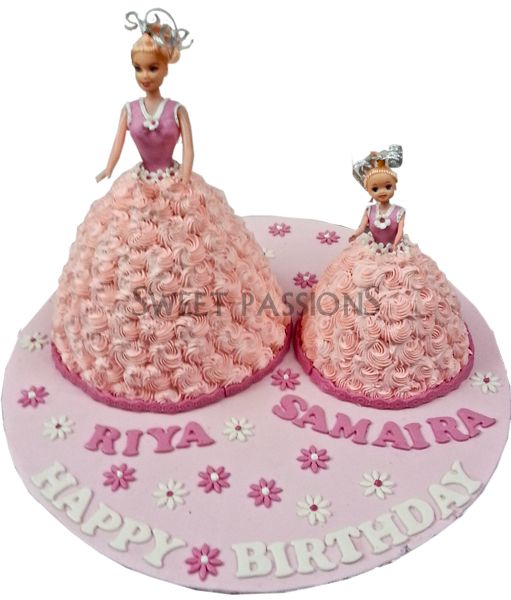 Barbie Mother Daughter Cake