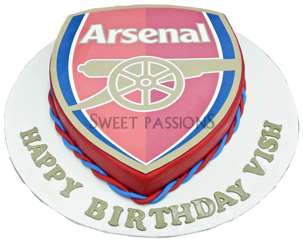 Arsenal Sugarpaste Photo