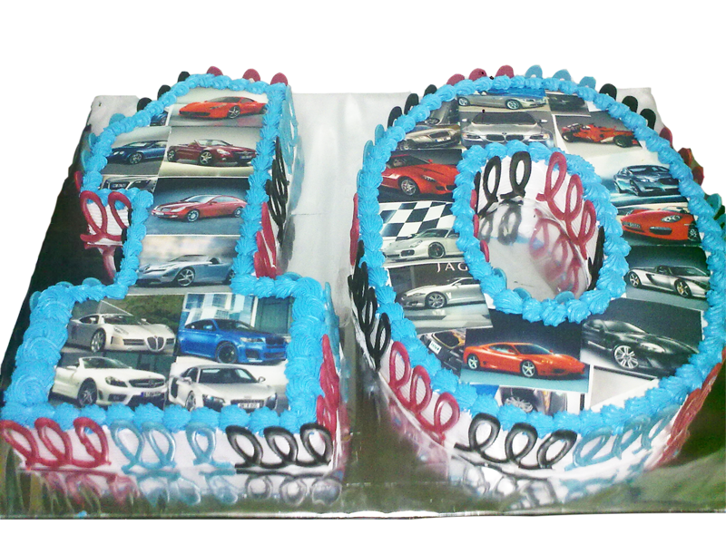 Number 10 Cake With Racing Car Photos