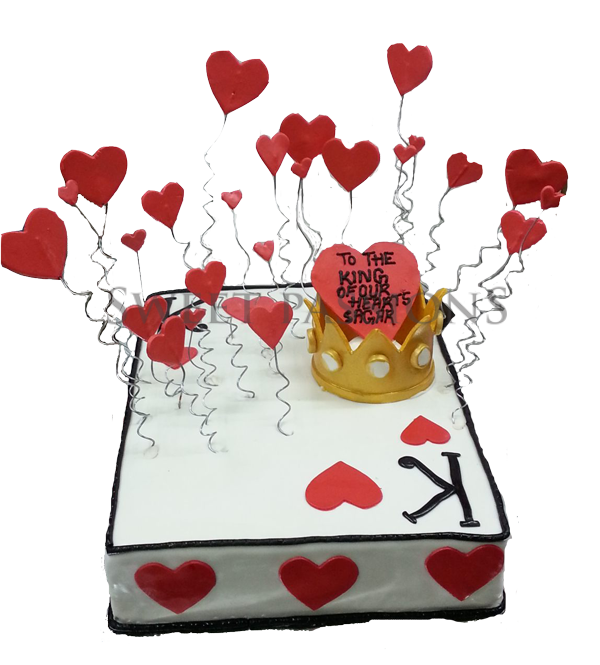 King Of Hearts Cake