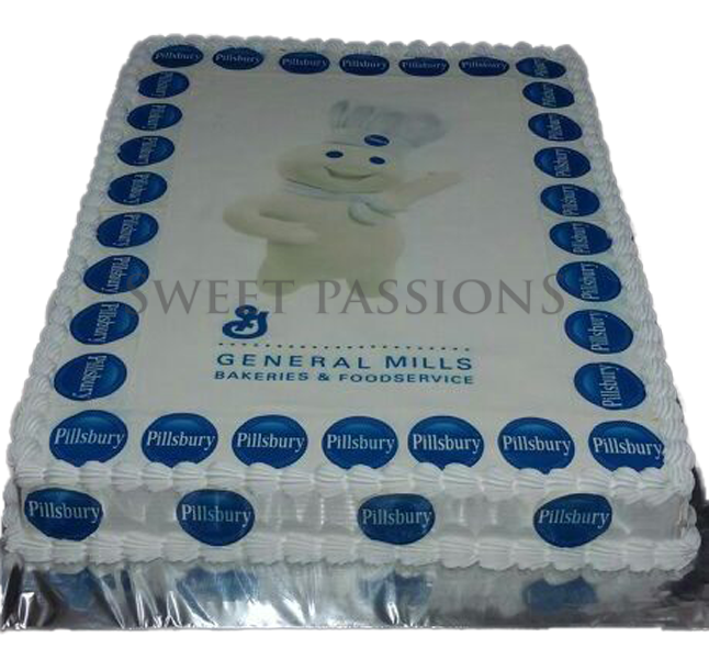 Pilsbery Photo Cake With Logos