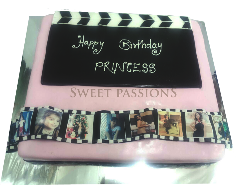 Clapboard With Film Reel Cake