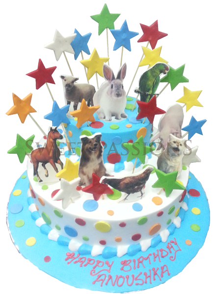 Farm Animals Cut-out Cake