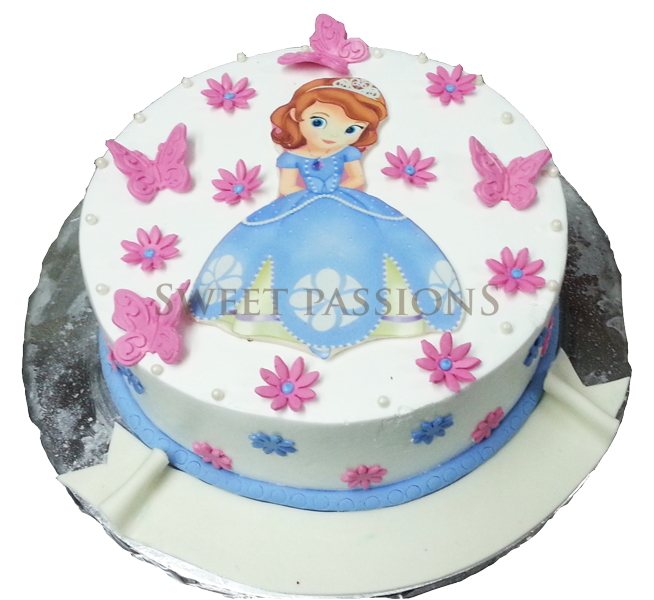 Sophia Princess Cut-out Cake
