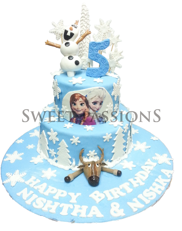 2 Tier New Design Frozen Theme
