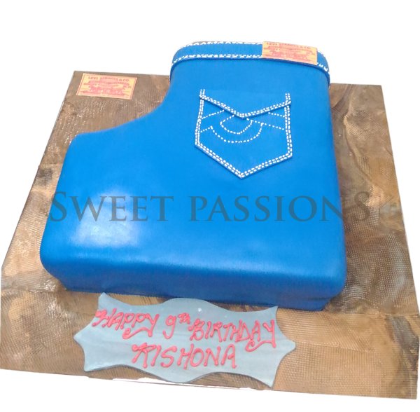 3d Jeans Cake