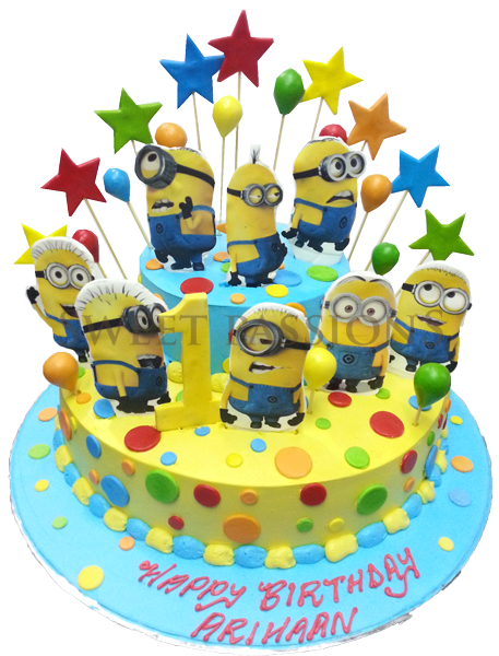 Minions 2 Tier Photo Cut-out