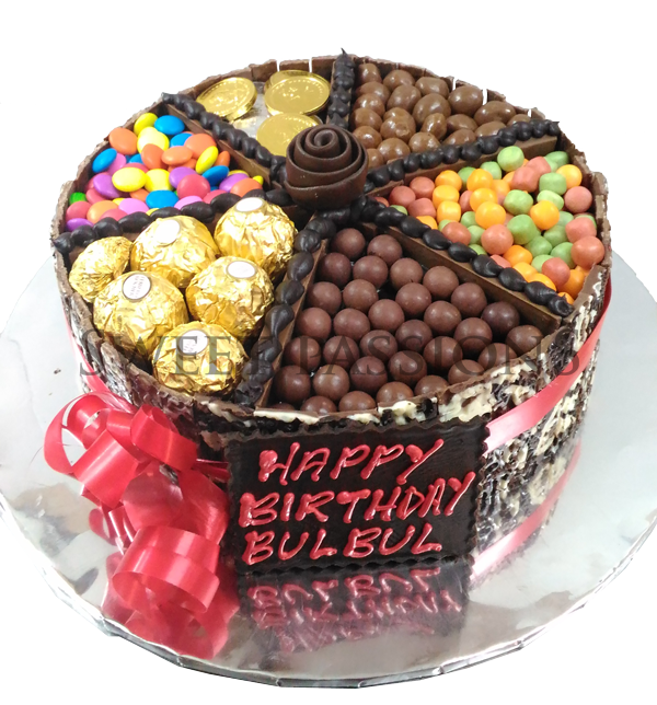 Mix Chocolates Treat Cake