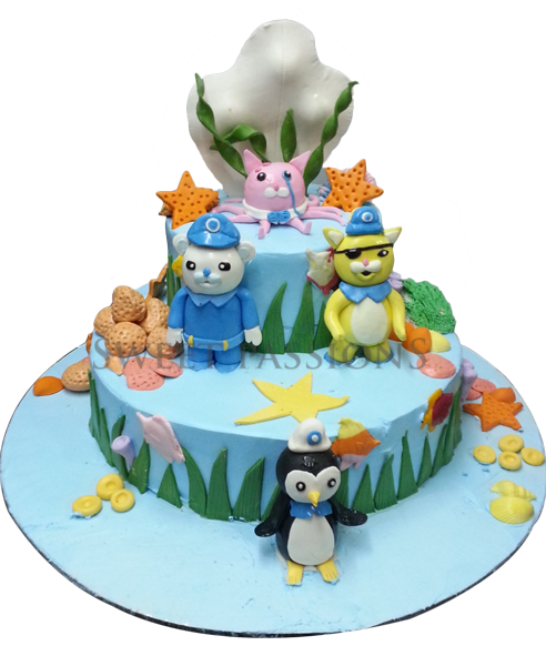 2 Tier Octonauts Cake