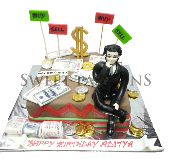 Stock Market Guy Cake