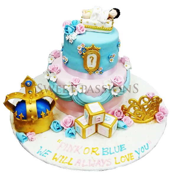 Grand 2 Tier Baby Shower Gold