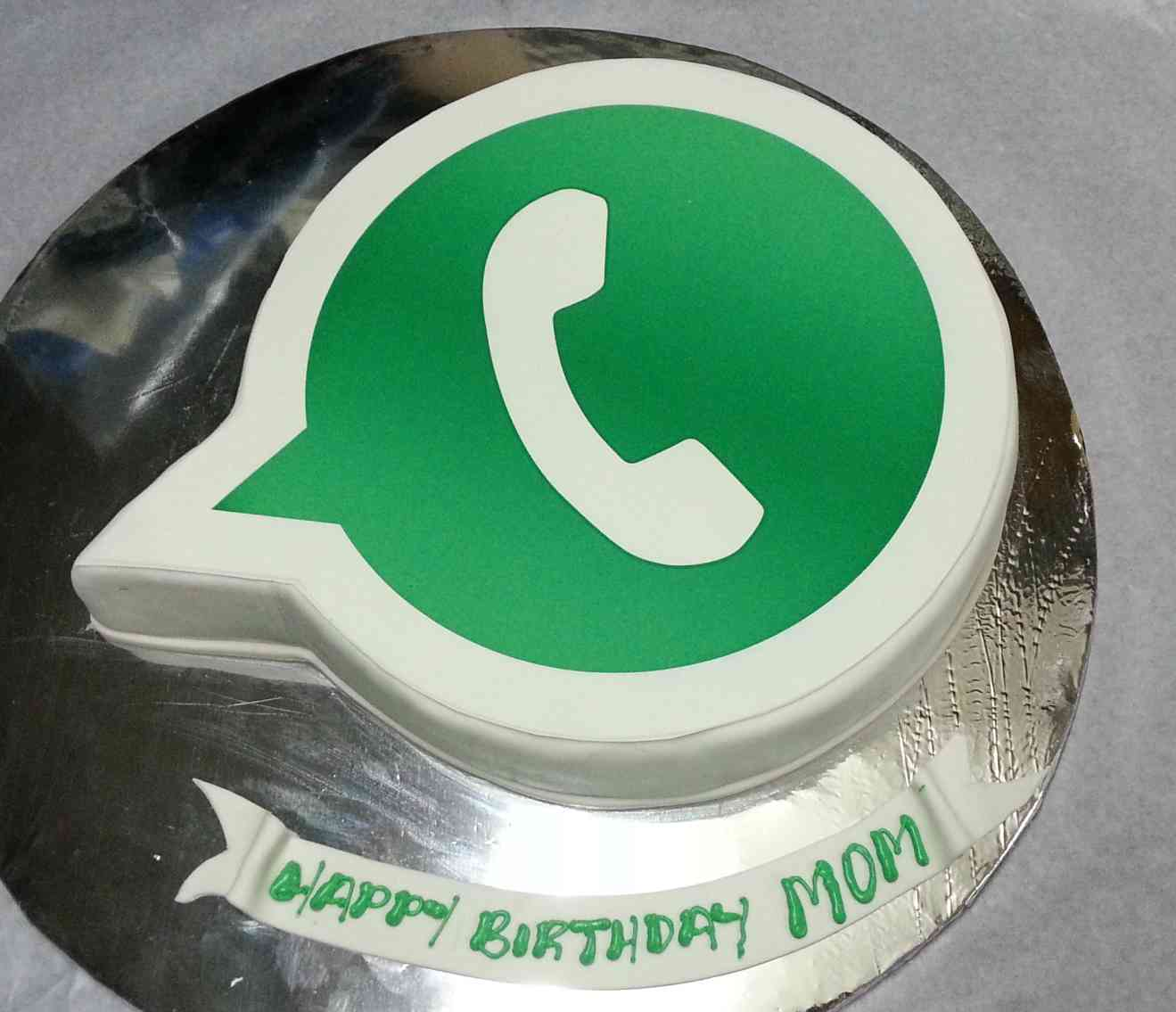 Whatsapp Photo Cake